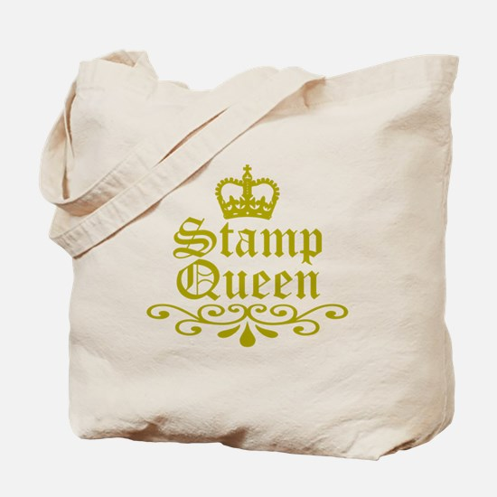 Gold Stamp Queen Tote Bag