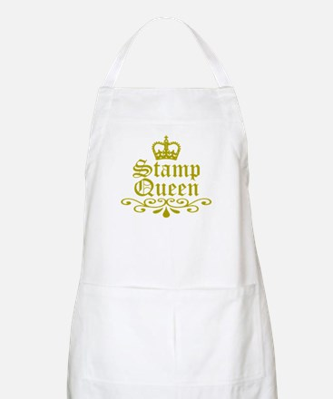 Gold Stamp Queen BBQ Apron