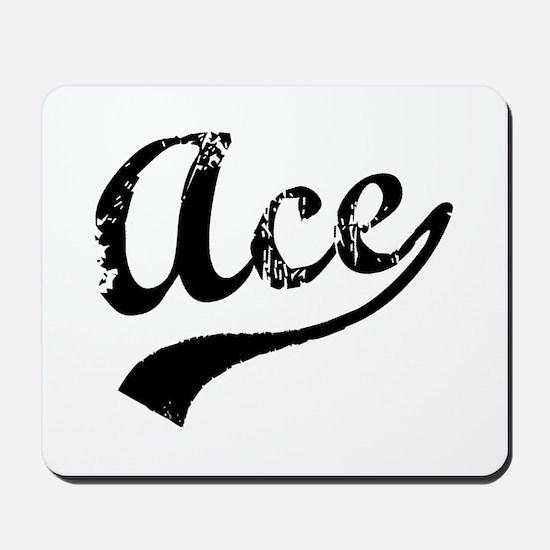 Vintage Ace (Black) Mousepad