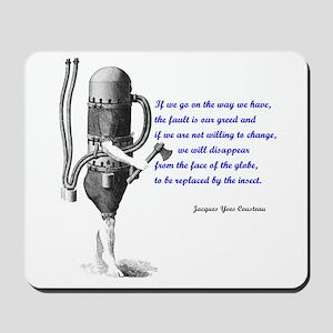 Cousteau Quote Mousepad