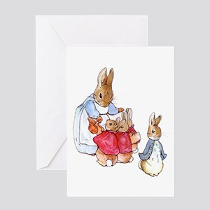 Beatrix Potter - Peter Rabbit : Mrs Greeting Cards