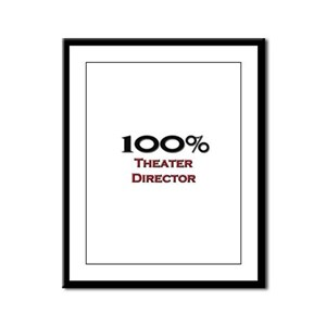 100 Percent Theater Director Framed Panel Print