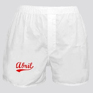 Vintage Abril (Red) Boxer Shorts