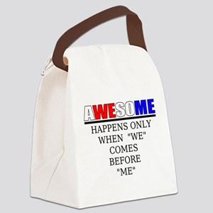 Sports saying Canvas Lunch Bag