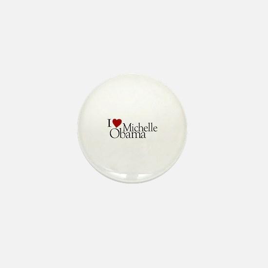 I Love Michelle Obama Mini Button