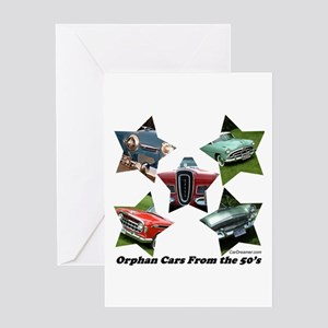 """""""Orphan Cars of the 50's"""" Greeting Card"""