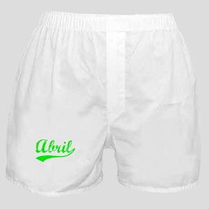 Vintage Abril (Green) Boxer Shorts