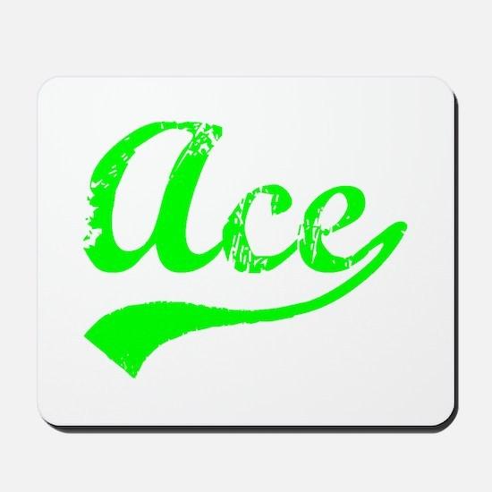 Vintage Ace (Green) Mousepad