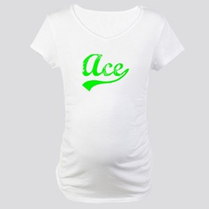 Vintage Ace (Green) Maternity T-Shirt
