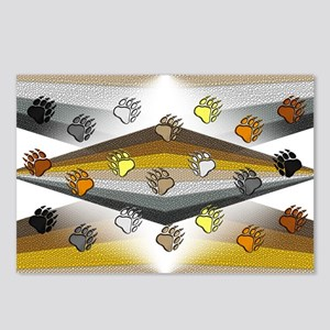 BEAR PRIDE ABSTRACT/BEAR PAWS Postcards (Package 8