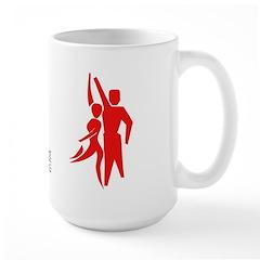 Latin Dance Couple Large Mug