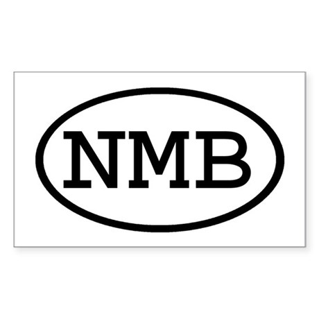 NMB Oval Rectangle Sticker