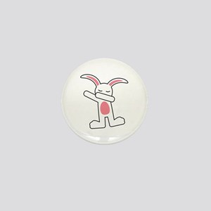 Dabbing Bunny Mini Button
