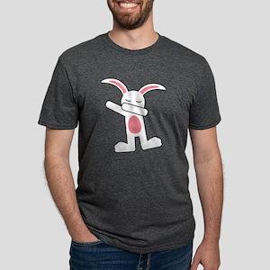 Dabbing Bunny Mens Tri-blend T-Shirt