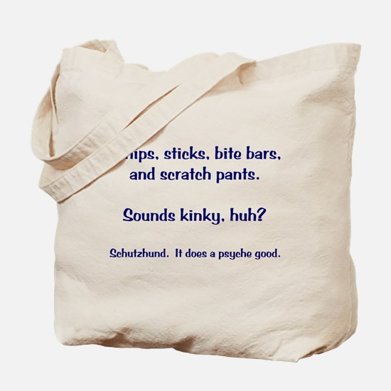 Whips and Sticks Tote Bag