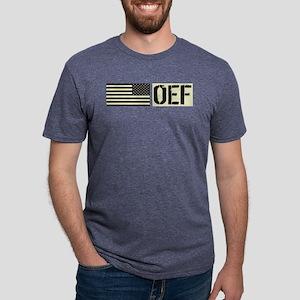 U.S. Military: OEF (Black F Mens Tri-blend T-Shirt