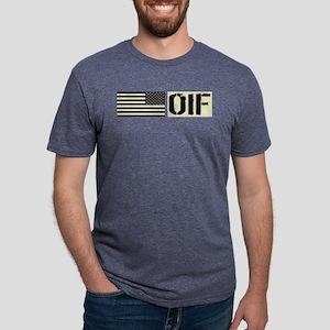 U.S. Military: OIF (Black F Mens Tri-blend T-Shirt