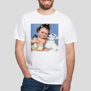 Baby Bottle White T-Shirt