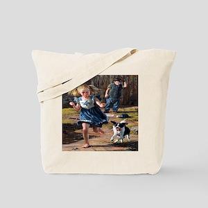 Playing Ball Tote Bag