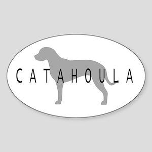 Catahoula Oval Sticker