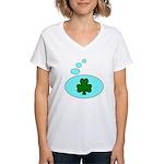 SHAMROCK THOUGHTS Women's V-Neck T-Shirt