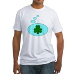 SHAMROCK THOUGHTS Fitted T-Shirt