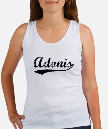 Vintage Adonis (Black) Women's Tank Top