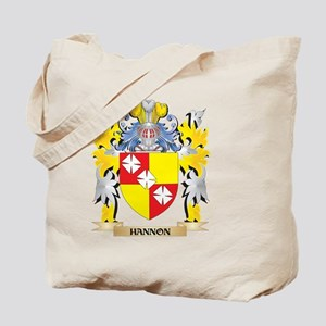 Hannon Coat of Arms - Family Crest Tote Bag
