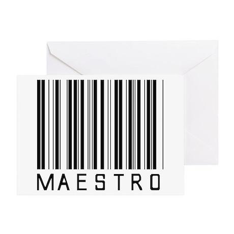 Maestro Barcode Greeting Card