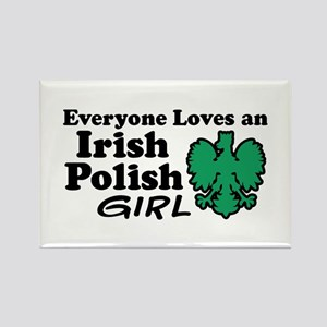 Irish Polish Girl Rectangle Magnet