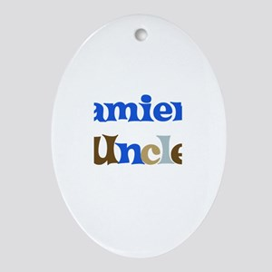Damien's Uncle Oval Ornament