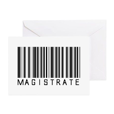 Magistrate Barcode Greeting Cards (Pk of 10)