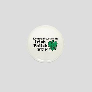 Irish Polish Boy Mini Button