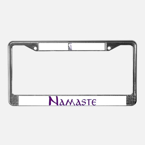 Yoga Beauty and Bliss License Plate Frame