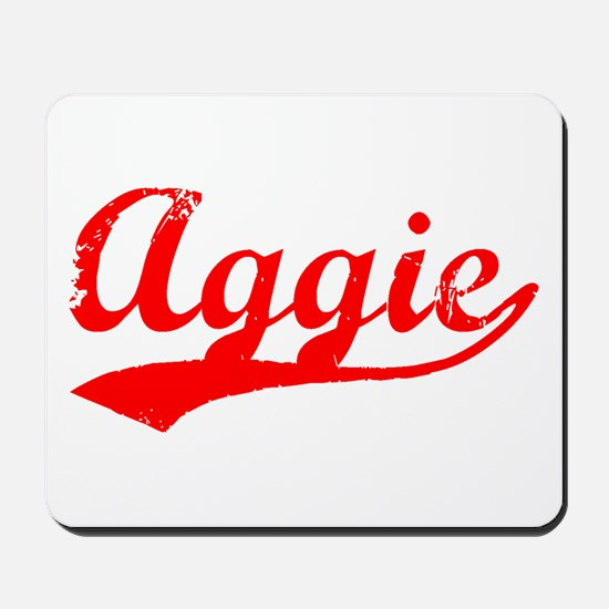 Vintage Aggie (Red) Mousepad