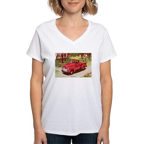 1952 GMC Pickup Women's V-Neck T-Shirt