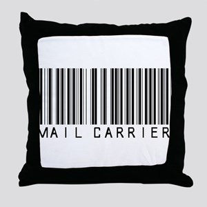 Mail Carrier Barcode Throw Pillow
