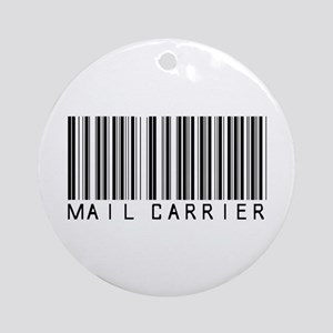 Mail Carrier Barcode Ornament (Round)
