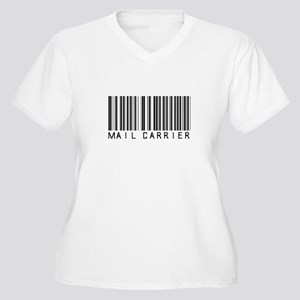 Mail Carrier Barcode Women's Plus Size V-Neck T-Sh