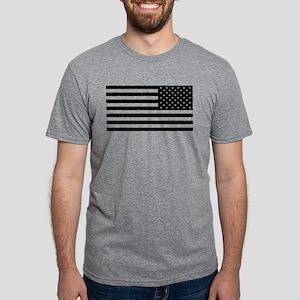 U.S. Flag - Black Backwards Mens Tri-blend T-Shirt