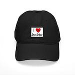 I Love Ann Arbor Michigan Black Cap