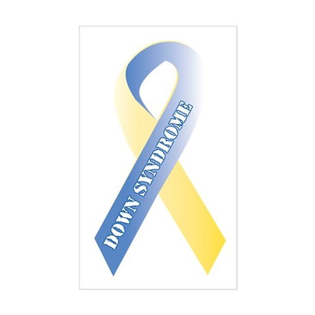 Down Syndrome Awareness Sticker (Rectangle)