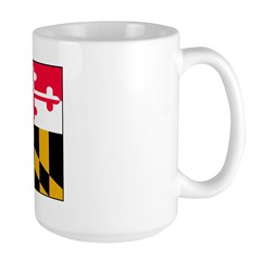 Maryland Blank Flag Large Mug