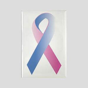 Pink Blue Awareness Rectangle Magnet
