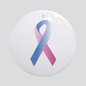Pink Blue Awareness Ornament (Round)