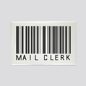 Mail Clerk Barcode Rectangle Magnet