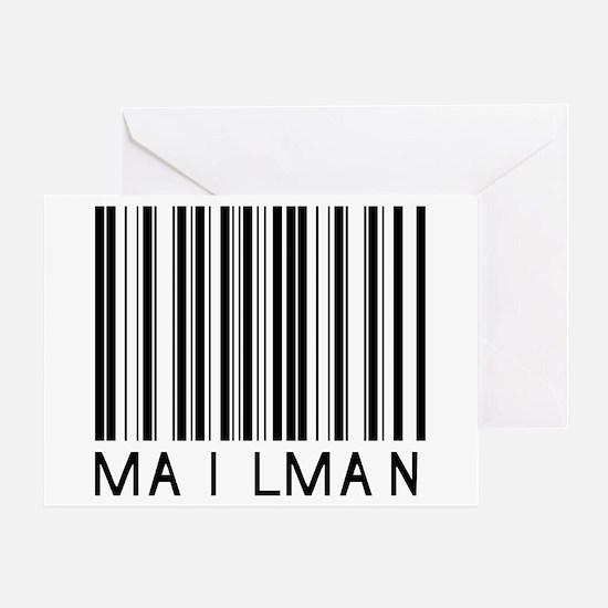 Mailman Barcode Greeting Card