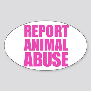 Report Animal Abuse Sticker