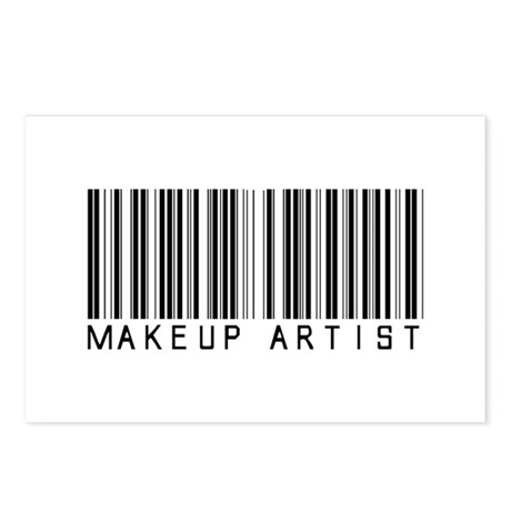 Makeup Artist Barcode Postcards (Package of 8)