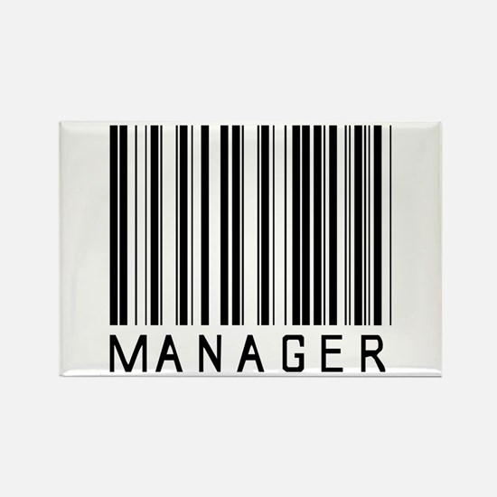 Manager Barcode Rectangle Magnet